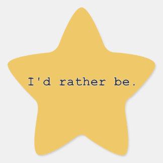 Sería bastante pegatina en forma de estrella