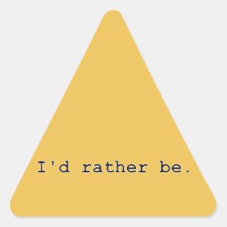 Sería bastante pegatina triangular