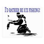 ¡Sería bastante pesca del hielo! Postal
