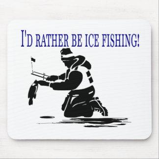 ¡Sería bastante pesca del hielo! Tapete De Ratones