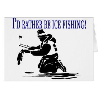¡Sería bastante pesca del hielo! Tarjeta