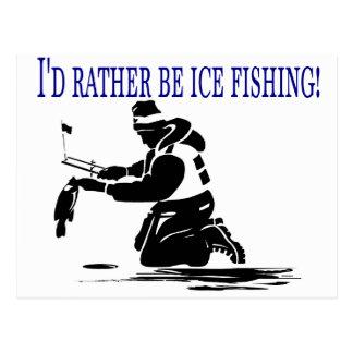 ¡Sería bastante pesca del hielo! Tarjetas Postales