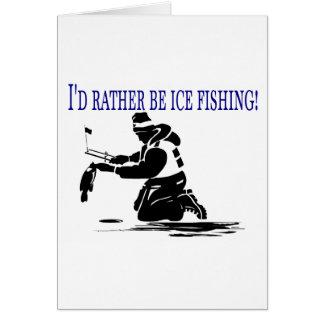 ¡Sería bastante pesca del hielo! Tarjeton