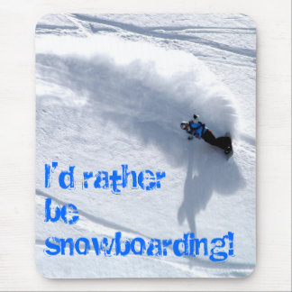 Sería bastante ratón de la snowboard mate mousepads