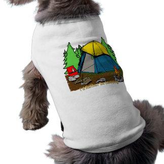 Sería bastante ropa del mascota que acampa playera sin mangas para perro