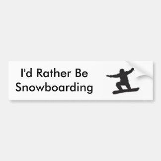 Sería bastante snowboard pegatina para auto