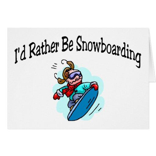 Sería bastante snowboard tarjeton