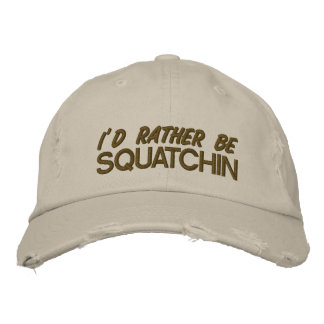 Sería bastante squatchin gorra de beisbol bordada
