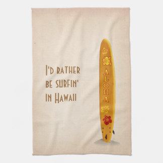 Sería bastante surfin en Hawaii Toalla De Mano