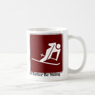 Sería bastante taza de café de esquí