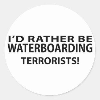 Sería bastante terroristas de Waterboarding Pegatinas