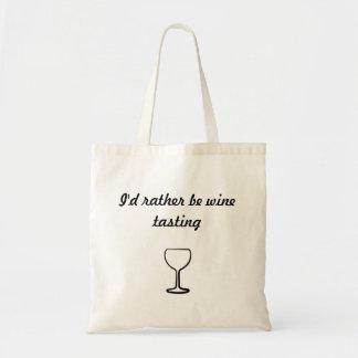 """""""Sería bastante tote de la degustación de vinos"""" Bolsa"""