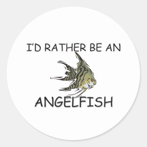 Sería bastante un Angelfish Pegatina Redonda