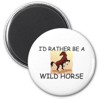 Sería bastante un caballo salvaje imán de nevera