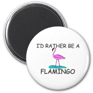 Sería bastante un flamenco imán redondo 5 cm