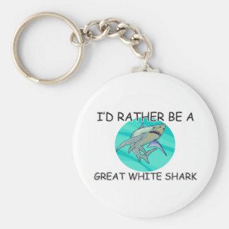 Sería bastante un gran tiburón blanco llaveros