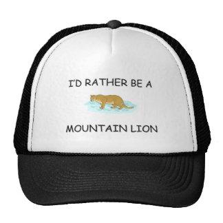 Sería bastante un león de montaña gorras de camionero
