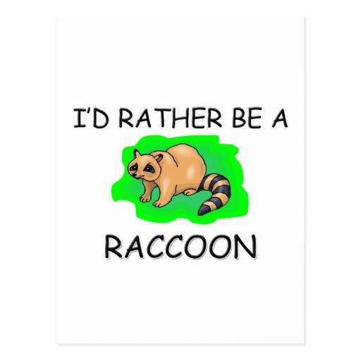 Sería bastante un mapache tarjetas postales