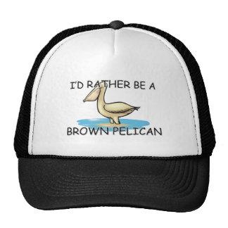Sería bastante un pelícano de Brown Gorro