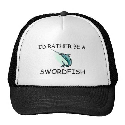 Sería bastante un pez espada gorras