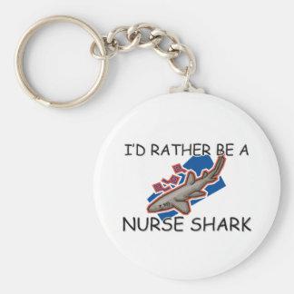 Sería bastante un tiburón de enfermera llavero redondo tipo pin