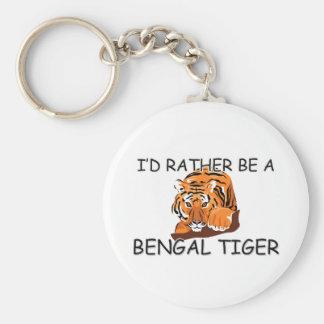 Sería bastante un tigre de Bengala Llaveros Personalizados