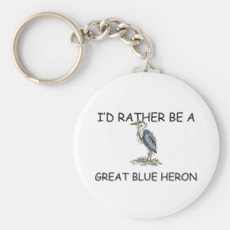 Sería bastante una garza de gran azul llavero personalizado