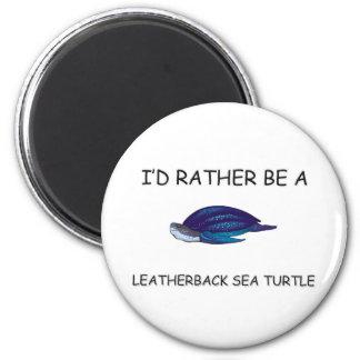 Sería bastante una tortuga de mar del Leatherback Imán De Frigorífico