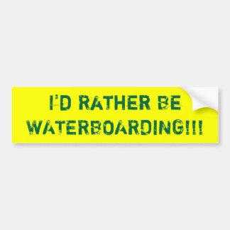 ¡Sería bastante WATERBOARDING!!! Pegatina Para Auto