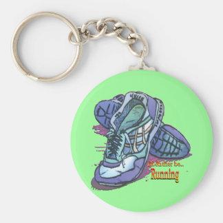 Sería bastante zapatillas de deporte corrientes de llavero redondo tipo pin