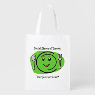 Serial Diners2 - the Plate Grocery Bags