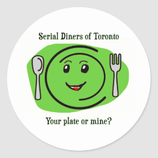 Serial Diners2 - the Plate Round Sticker