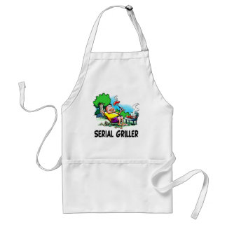 Serial Griller BBQ Fanatic Adult Apron