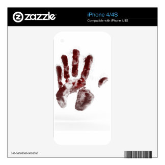 Serial killer blood handprint skin for the iPhone 4