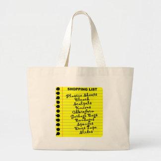 Serial Killer Shopping List! Large Tote Bag