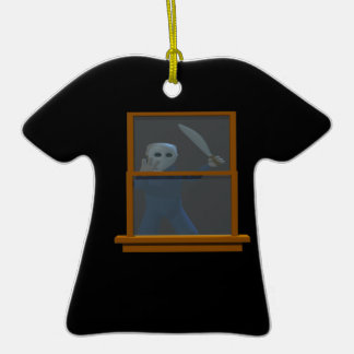 Serial Killer Stalker Double-Sided T-Shirt Ceramic Christmas Ornament