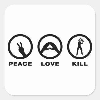 Serial Killer Square Stickers