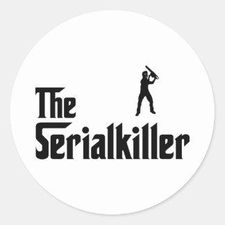 Serial Killer Round Stickers