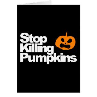 Serial Pumpkin Killer - Halloween Card