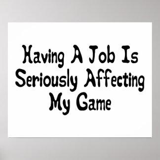 Seriamente afectar a mi juego póster