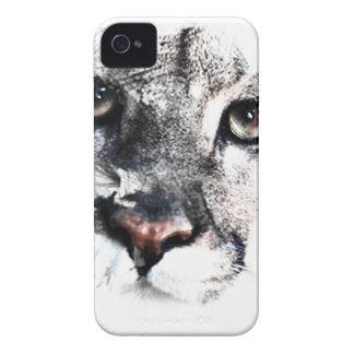 Seriamente arte del animal del puma carcasa para iPhone 4