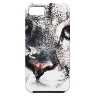 Seriamente arte del animal del puma funda para iPhone SE/5/5s