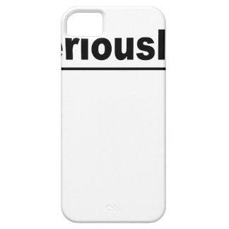 Seriamente camisetas .png iPhone 5 fundas