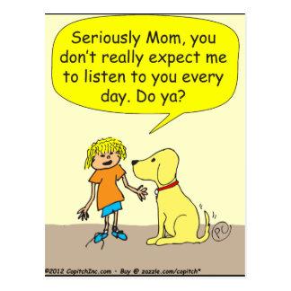 seriamente dibujo animado de la mamá 265 postales