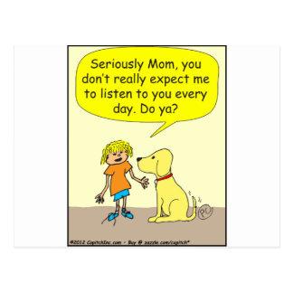 Seriamente dibujo animado de la mamá 265 tarjetas postales
