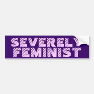 Seriamente feminista pegatina para auto