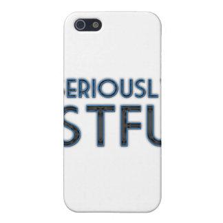 Seriamente STFU iPhone 5 Fundas