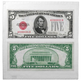Serie 1928 del billete de banco de la moneda de cu servilleta imprimida