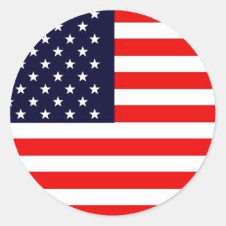 Serie AMERICANA de la BANDERA de los E E U U los Etiquetas