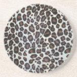 Serie animal de la impresión del safari - leopardo posavasos personalizados